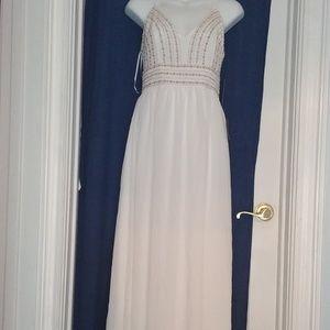White Beaded Maxi Dress